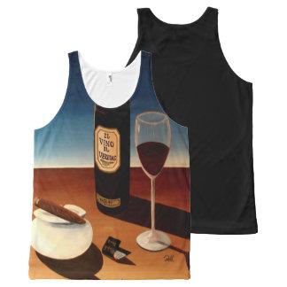 "Unisex Sports Tank Top ""Wine & Cigars"""
