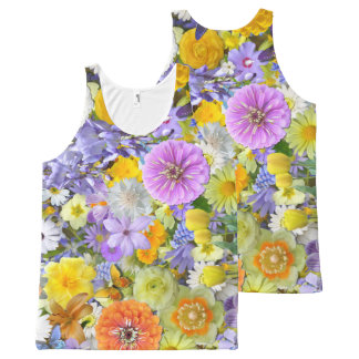 Unisex Tank - Flowers and Butterflies