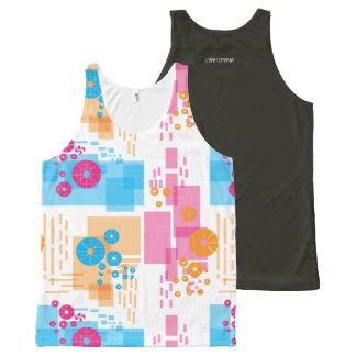 Unisex Tank with geometrical print