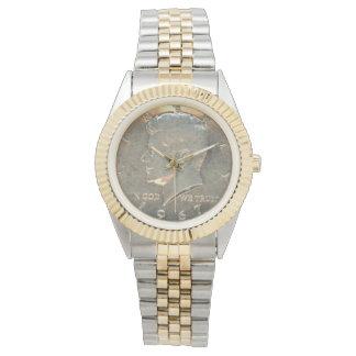 Unisex Two-Tone Bracelet Watch Kennedy 1967 Head