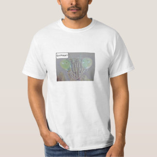 Unisex White T-shirt Praying Mantis