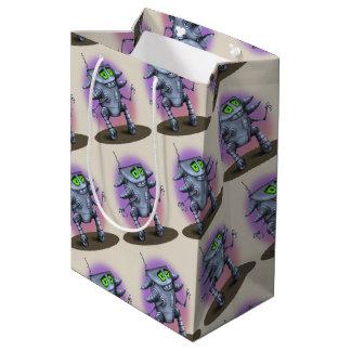 UNIT ALIEN ROBOT CARTOON Gift Bag -  MEDIUM GLOSSY