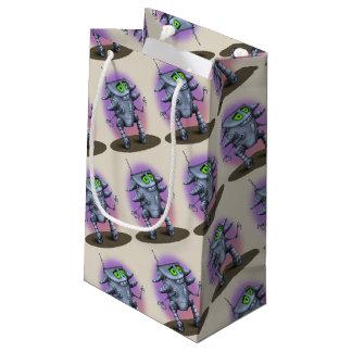 UNIT ALIEN ROBOT CARTOON Gift Bag -  SMALL GLOSSY