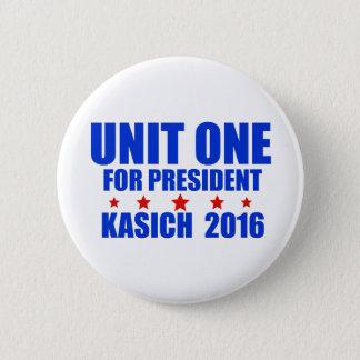 Unit One for President Kasich 2016 2 Inch Round Button