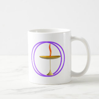 unitarian universalist chalice classic white coffee mug