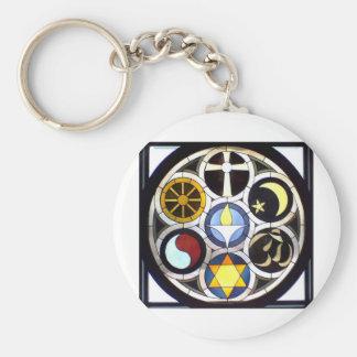 Unitarian Universalist Church Rockford, IL Basic Round Button Keychain