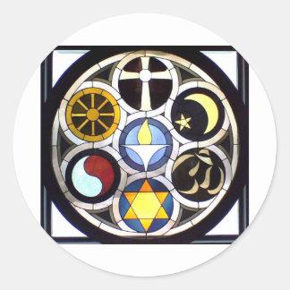 Unitarian Universalist Church Rockford, IL Round Sticker