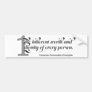 Unitarian Universalist First Principal Bumper Sticker