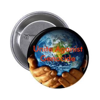Unite Aganist Genocide 2 Inch Round Button