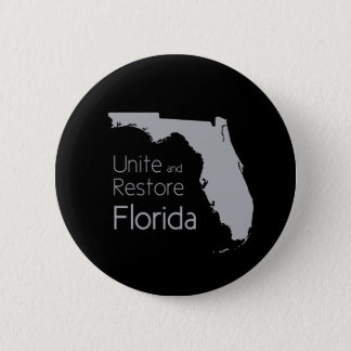 Unite and restore Florida after hurricane Irma 2 Inch Round Button