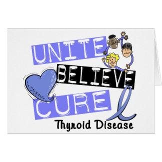 UNITE BELIEVE CURE Thyroid Disease Card
