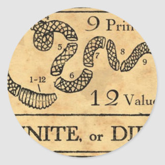 Unite or Die  mug Classic Round Sticker