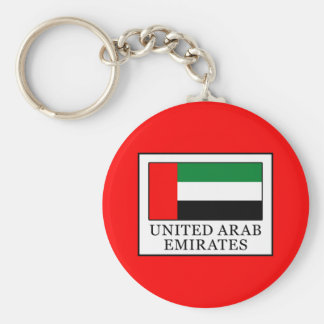 United Arab Emirates Basic Round Button Keychain