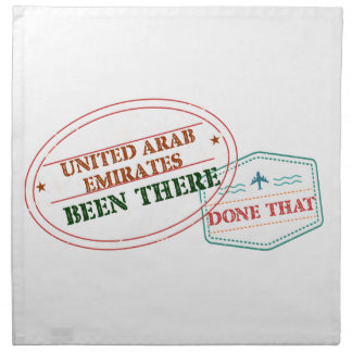 United Arab Emirates Been There Done That Napkin