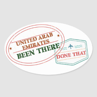 United Arab Emirates Been There Done That Oval Sticker