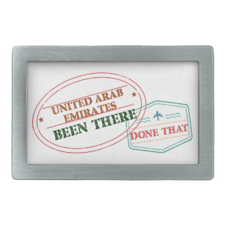United Arab Emirates Been There Done That Rectangular Belt Buckles