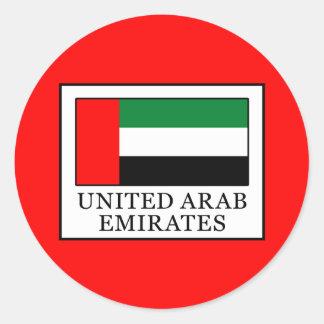 United Arab Emirates Classic Round Sticker