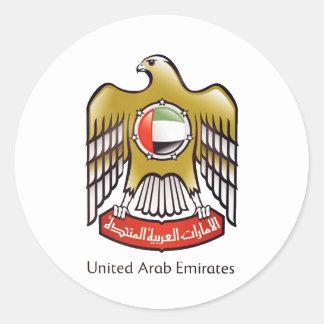 United Arab Emirates coat of arms Classic Round Sticker