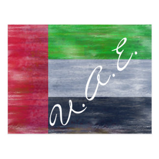 United Arab Emirates distressed UAE flag Postcard
