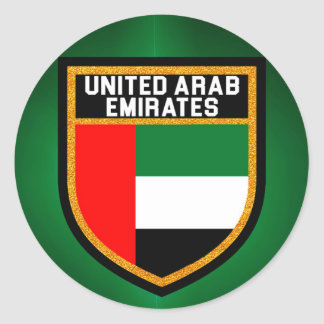 United Arab Emirates Flag Classic Round Sticker