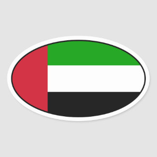 United Arab Emirates Flag Oval Sticker