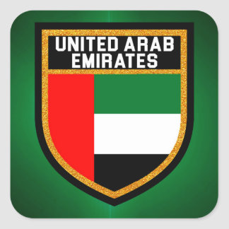 United Arab Emirates Flag Square Sticker