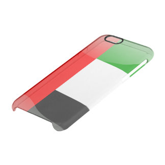 United Arab Emirates glossy flag Clear iPhone 6/6S Case