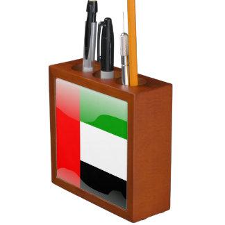 United Arab Emirates glossy flag Desk Organizer