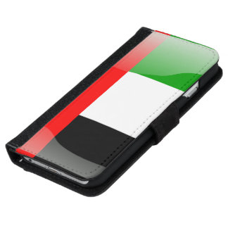 United Arab Emirates glossy flag iPhone 6 Wallet Case