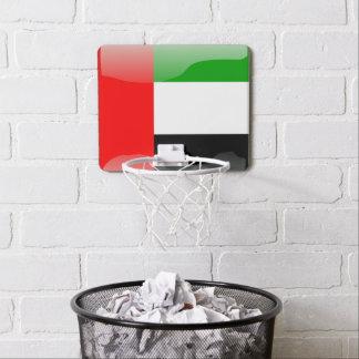 United Arab Emirates glossy flag Mini Basketball Backboard
