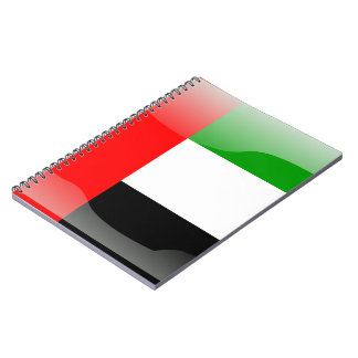 United Arab Emirates glossy flag Notebooks