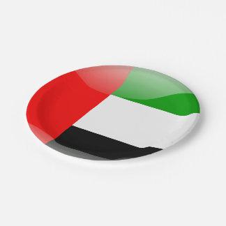 United Arab Emirates glossy flag Paper Plate