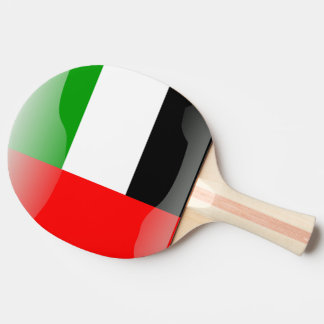 United Arab Emirates glossy flag Ping Pong Paddle