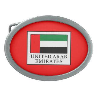 United Arab Emirates Oval Belt Buckle
