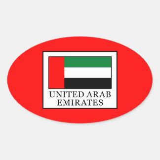 United Arab Emirates Oval Sticker