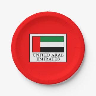 United Arab Emirates Paper Plate