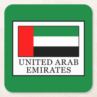 United Arab Emirates Square Paper Coaster