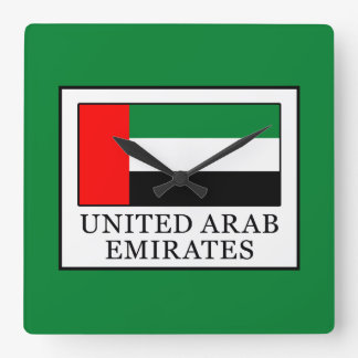 United Arab Emirates Square Wall Clock