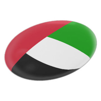United Arab Emirates UAE Flag Plate