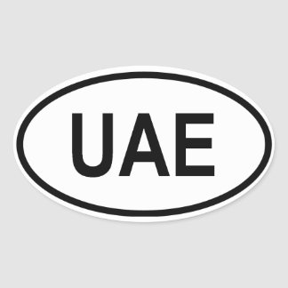 "United Arab Emirates ""UAE"" Oval Sticker"