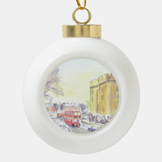 United Bristol Loddeka  FLF Christmas bauble. Ceramic Ball Christmas Ornament