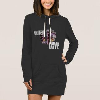 """ united by love"" flower /Women's Hoodie Dress"