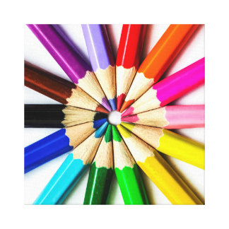 United Colors Stretched Canvas Print