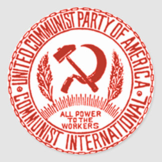 United Communist Party of America Classic Round Sticker
