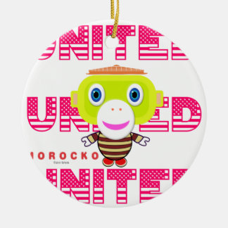 United-Cute Monkey-Morocko Ceramic Ornament