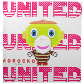 United-Cute Monkey-Morocko Napkin