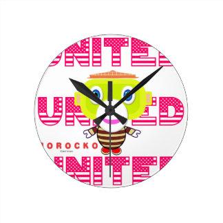 United-Cute Monkey-Morocko Round Clock