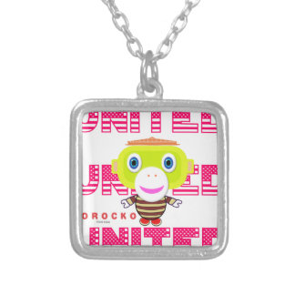 United-Cute Monkey-Morocko Silver Plated Necklace