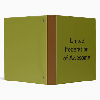 United Federation of Awesome 3 Ring Binders