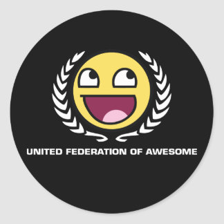 United Federation of Awesome Round Sticker